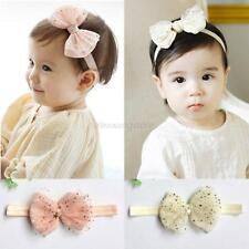 Infant Kids Girls Baby Flower Headband Headdress Bow Hair Band Hair Accessories