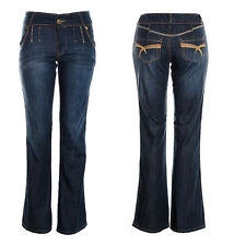 Women's Boot Cut Kick Flared Jeans Ladies Distressed Bell Bottom flared Jeans