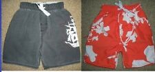 2 pair WES & WILLY pirate floral SWIM TRUNKS shorts SWIMSUIT boys 4T toddler LOT