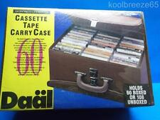 Vintage Audio Cassette Tape Carrying Case Double Sided Storage Holds 60 Tapes