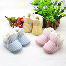 1 Pair Striped Baby Cotton Shoes 2016 Toddler Girl New Newborn Warm Winter Boy