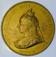 1897 Queen Victoria Diamond Jubilee medal by Spink 76 mm Gilt metal