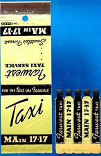 1940s Taxi Feature Presentation Matchcover/comb--Seattle, WA