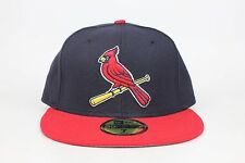 St. Louis Cardinals Navy / Red Lid / Red Bird Logo New Era 59Fifty Fitted Hat EB