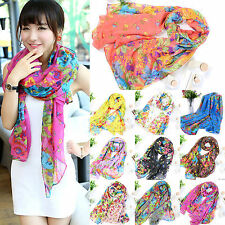 Lady Womens Printed Cotton Warm Long Scarf Stole Shawl Wrap Soft Voile Scarves