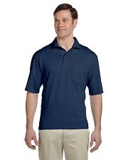 Jerzees Mens Jersey Pocket Polo Shirt w/ SpotShield Big Sizes Only