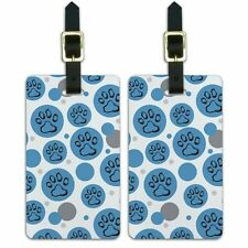 Luggage Suitcase Carry-On ID Tags Set of 2 Paw Print Artsy Cat Dog
