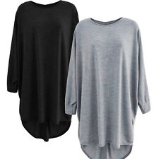 Fashion Women's Batwing Sleeve Party Dress Long Tops Jumper Hoodie Coat Blouse