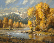 Robert Peters Autumn Brook Signed Open Edition on Paper