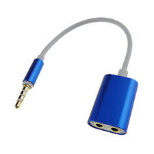 3.5mm Male to 2 Female Splitter Audio Cable Adapter Plug for Earbud Headset J