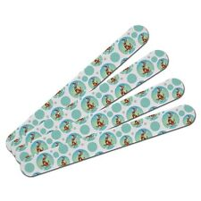 Double-Sided Nail File Emery Board Set 4 Pack Sea Ocean Life