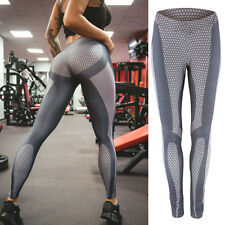 Women YOGA 3D Trousers Athletic Gym Sports Jeans Pants Leggings Fitness Stretch