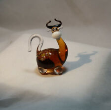 Art Blown Glass Murano Figurine Glass  Cow Figurine #5