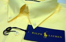 NWT $98 Polo Ralph Lauren LS Dress Shirt Mens 16 1/2 32-33 Yellow Cotton NEW