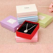 Cardboard Necklace Earring Ring Jewelry Display Wedding Gift Box Storage Cases