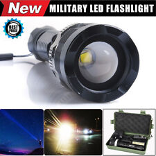 Adjustable 6000 Lumens CREE XM-L T6 LED Focus Military Flashlight Zoomable Torch