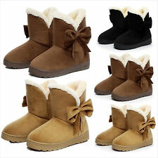 Fashion Women Faux Fur Suede Winter Warm Martin Snow Boots Flat Ankle Shoes NEW