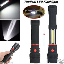 Magnetic END Black Work Light Inspection COB LED Flashlight 1200LM Lamp Torch US