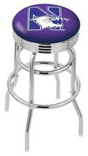 Northwestern University Retro Swivel Bar Stool Barstools