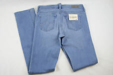 "AG Adriano Goldschmied ""The Premiere"" Skinny Straight Light Blue Stretch Jeans"