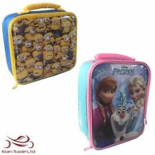 FROZEN / MINIONS CHILDREN'S KIDS SCHOOL NURSERY LUNCH BAG INSULATED SANDWICH BOX