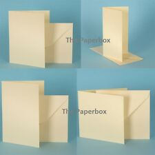 Cream Linen Card Blanks & Envelopes, premium DIY stationery