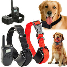 Waterproof Remote LCD Electric Shock Vibrate Dog Training For S/M/L 1-2 Pet Dog