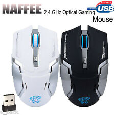 2.4GHz Wireless 2400DPI 6 Buttons Optical Rechargeable USB Gaming Mouse Mice Hot