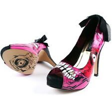 IRON FIST GOLD DIGGER ZOMBIE STOMPER HIGH HEELS PLATFORM SHOES UK 4-8