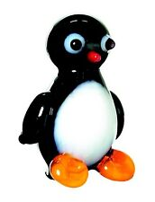 Miniature 1inch Glass Penguin Figurine - TWO NEW, SEALED, FREE SHIPPING