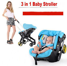 Baby Stroller 3 in 1 Newborn Infant Sleeping Basket Baby Safety Car Seat Baby