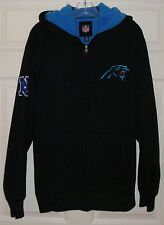 CAROLINA PANTHERS Mens Sherpa Lined Full Zip Hooded Sweatshirt - NFL - MEDIUM