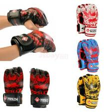 MMA Muay Thai Training Punching Bag Half Finger Mitts Sparring Boxing Gym Gloves
