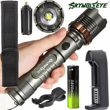 6000LM XM-L T6 LED Tactical Flashlight Zoomable Torch Lamp+ Battery+ Charger Set