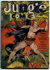 JUNGLE COMICS #3-1940-PISTOL ON COVER-KAANGA-RED PANTHER-FICTION HOUSE