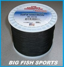 WOODSTOCK BRAIDED DACRON IGFA Fishing Line Black 300 YARDS FREE USA SHIP!