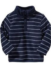 NWT OLD NAVY BOYS FLEECE PULLOVER HALF ZIP SWEATER shirt top stripe  u pick size