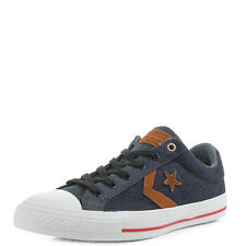 Mens Converse Cons Star Player Denim Grey Low Top Trainers Size