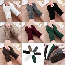 Fashion Unisex Women Ladies Fingerless Gloves Warm Gloves Knitted Winter Warm #p
