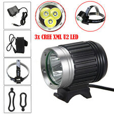 10000LM 3x CREE XML U2 LED Head Bicycle HeadLight Lamp Light Bike Headlamp Torch