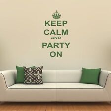 Keep Calm And Party Keep Calm Quotes Wall Stickers Home Decor Art Decals