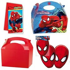 SPIDERMAN TABLEWARE MASKS / PARTY INVITATIONS / PARTY MEAL BOXES