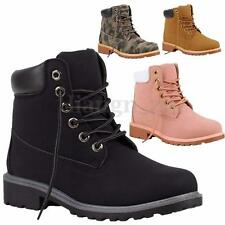 Winter Womens Ladies Hiking Boots Flat Ankle Desert Combat Chelsea Walking Shoes