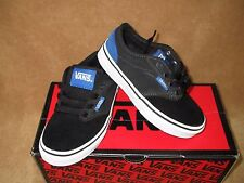 NEW VANS ATWOOD SKATE SHOE CLASSIC BLUE/PEWTER/BLACK YOUTH 11