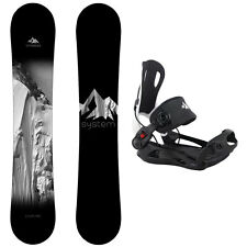 2017 System Timeless with MTN Rear Entry Bindings Men's Snowboard Package
