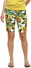 Loudmouth golf womens BERMUDA SHORTS Shagadelic White 25