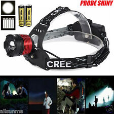 5000LM CREE XM-L T6 LED Zoom Headlight Head Lamp Zoomable + 2x 18650 +Charger