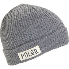 Poler Outdoor Stuff Workerman Unisex Headwear Beanie Hat - Light Grey Heather