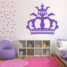 Grand Noble Crown Royal Majesty Princess Wall Stickers Kids Decor Art Decals