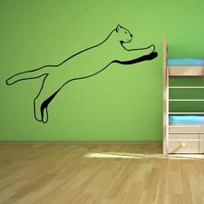 Panther Leaping Big Cat Feline Wild Animals Wall Stickers Home Decor Art Decals